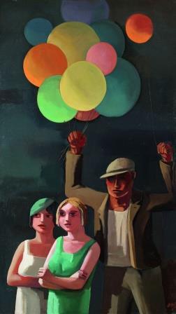 The Balloon Seller, 1929 O.R. Schatz - example of New Objectivity