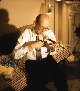 Bricht on miniature violin
