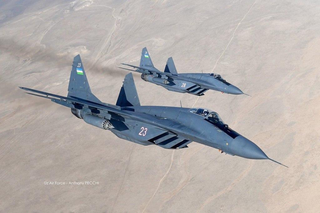 Um MiG-29 do 60th Separate Mixed Aviation Brigade da Força Aérea do Uzbequistão colidiu com o A-29 afegão dia 15 de agsoto (Foto: Anthony Pecchi).