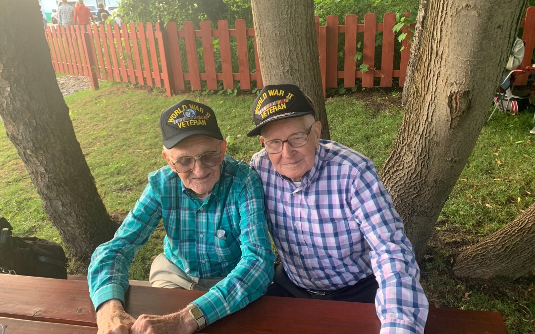 Two brothers and World War Two veterans talk about their experience in the first running of the AuSable River Canoe Marathon.