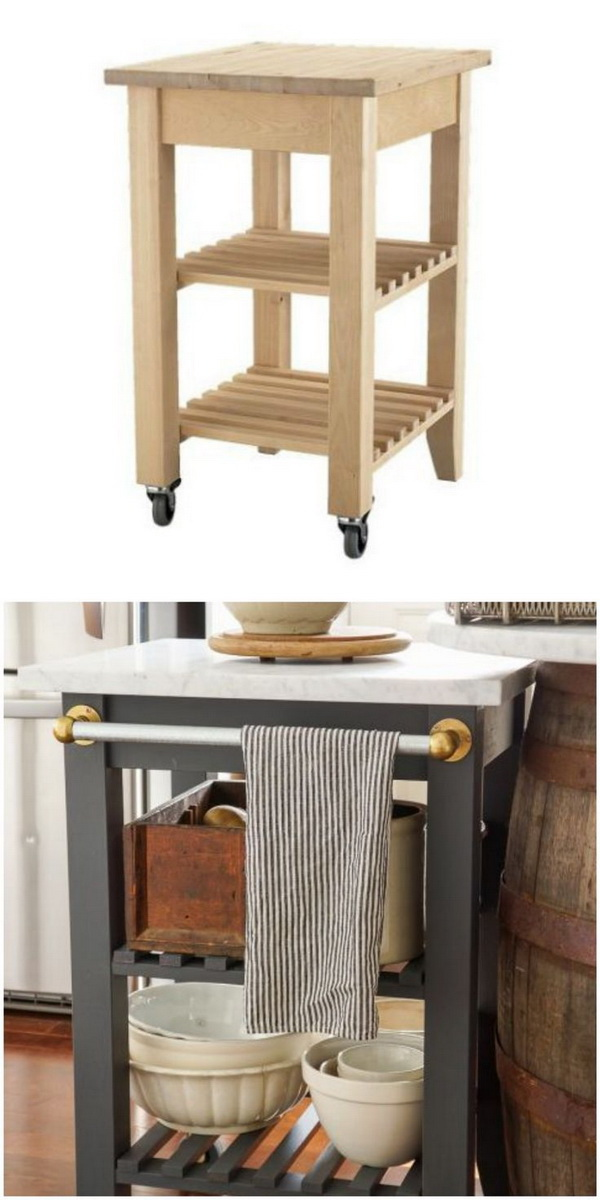Vintage Inspired Kitchen Island: