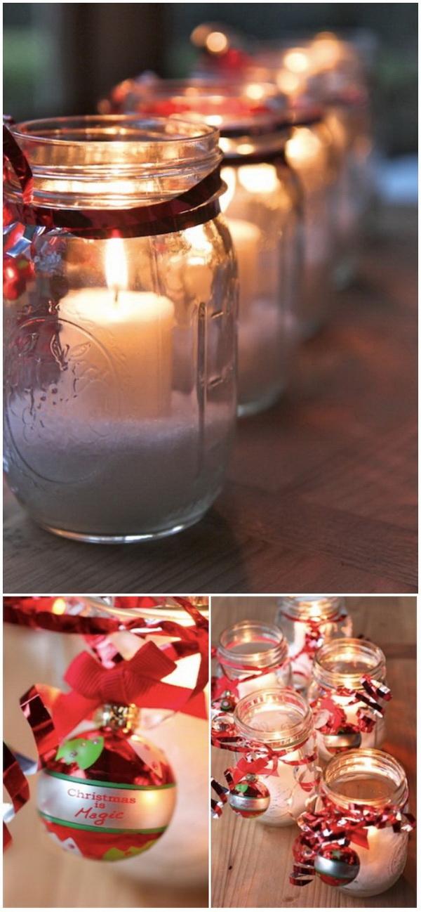 Christmas Mason Jar Candles: These beautiful