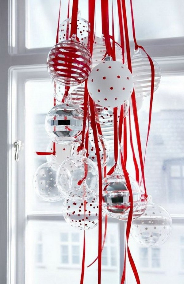 Hang Ornaments For Christmas Window Decorations. Decorate Your Winter  Windows With Beautiful Hang Christmas Ornaments