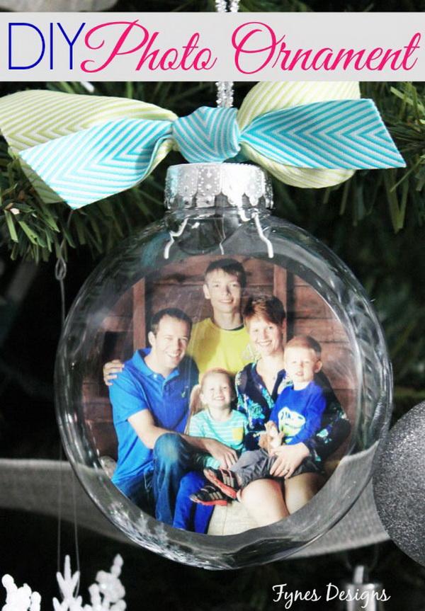 DIY Glass Photo Ornament :