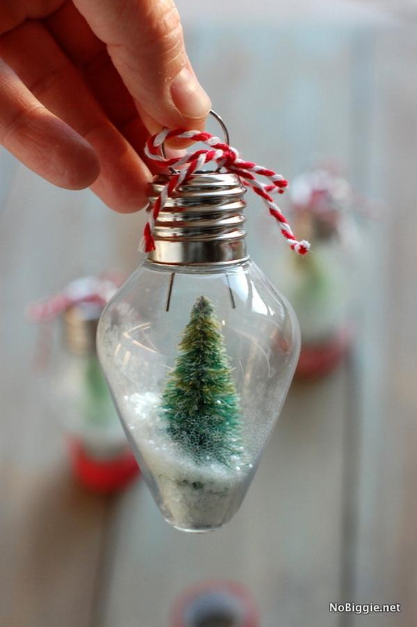 DIY Mini Snow Globe Ornament: