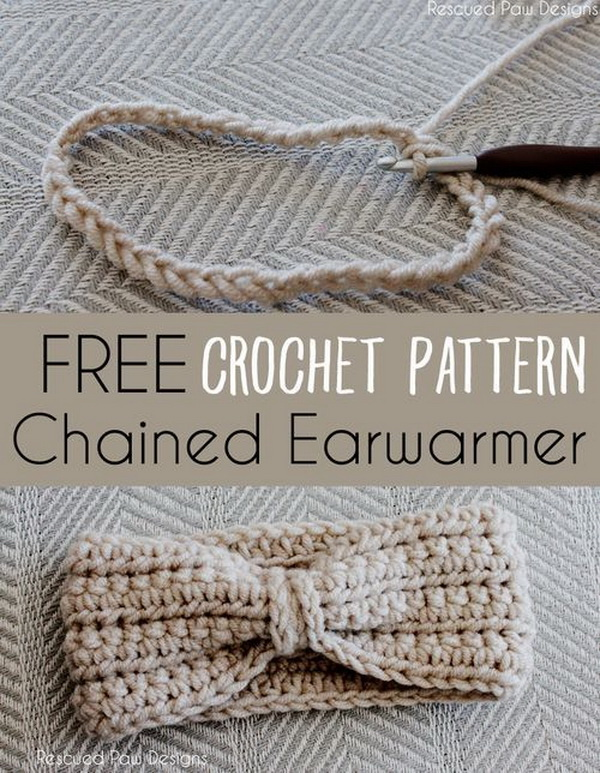 Crochet Chained Ear Warmer Pattern.