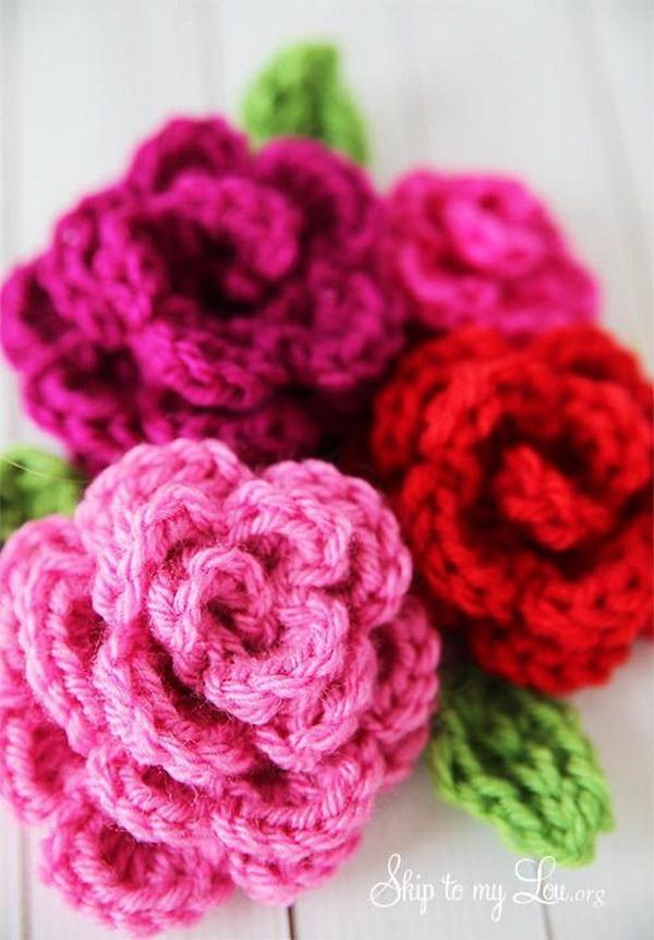 Pretty Crochet Roses.