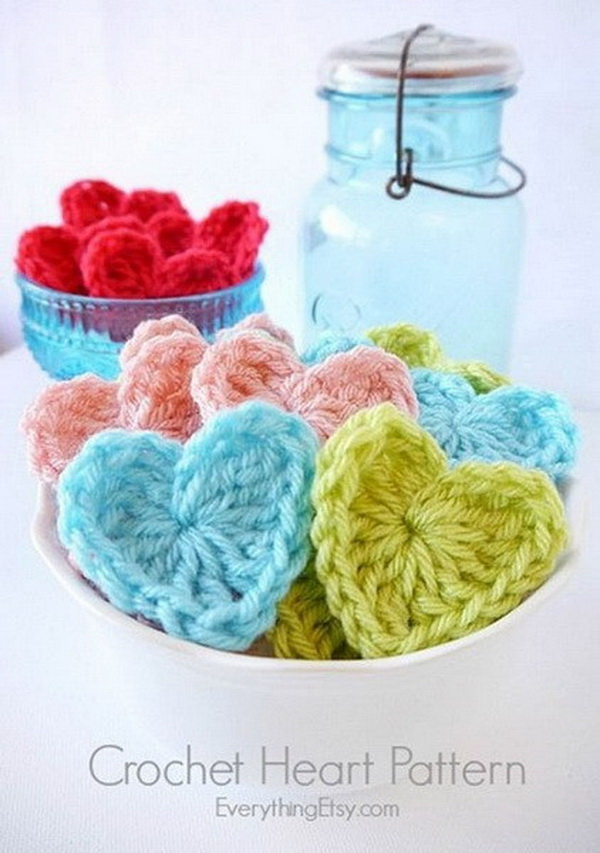 Easy Crochet Heart Patter.
