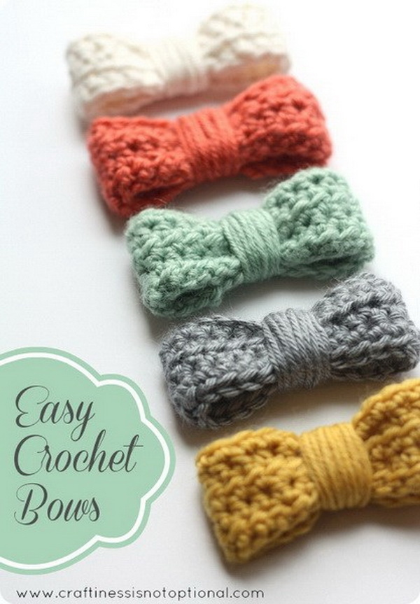 Easy Crochet Bows