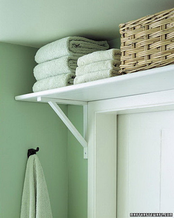 Above the Door Storage for Bathroom Supplies.