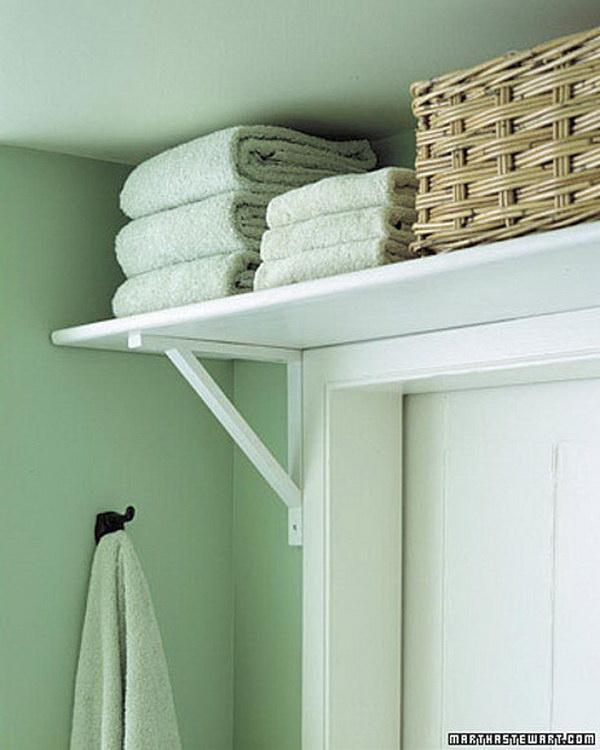 Above the Door Storage for Bathroom Supplies.