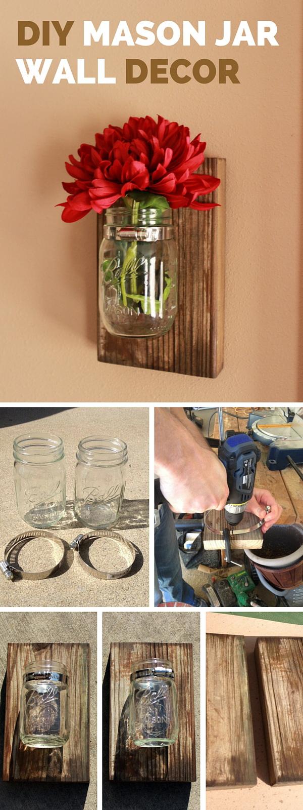DIY Mason Jar Wall Decorations: Get Creative Decorating Your Walls. Fixing  Mason Jars With