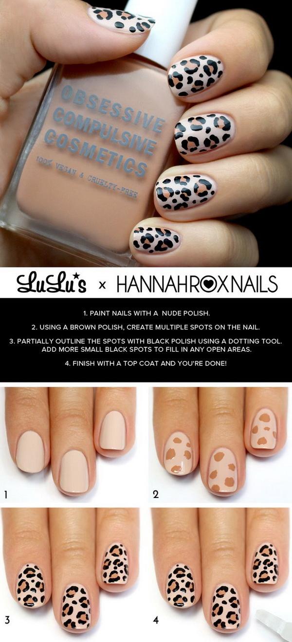 Leopard Print Nail Design Tutorial.