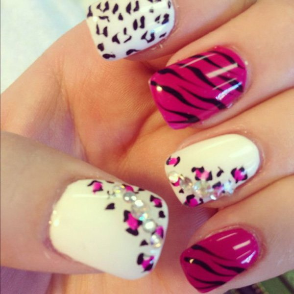 leopard and cheetah print nail designs.