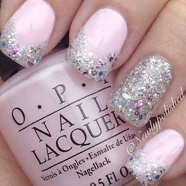 Pink Silver Glitter Nails - 45 Pretty Pink Nail Art Designs - For Creative Juice