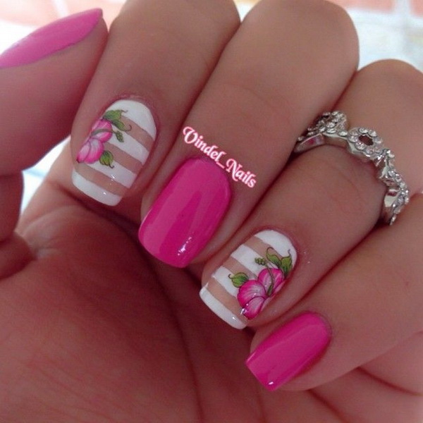 45 Pretty Pink Nail Art Designs For Creative Juice