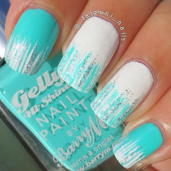 25 inspirational winter nail art ideas for creative juice amazing white and green ombre nailspin makeup tips prinsesfo Gallery