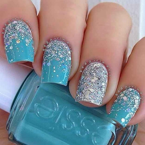 Icy Blue Winter Nails/Ink 361 - 25 Inspirational Winter Nail Art Ideas - For Creative Juice
