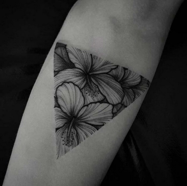 Simple Floral Tattoo On Forearm.What A Cool Tattoo Design Idea! Love It Very