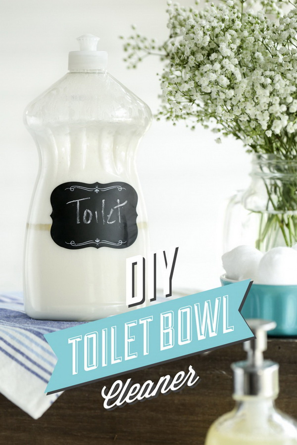 DIY Toilet Bowl Cleaner. Making your own household products and save a ton of money on the essentials. Get the recipes from for creativejuice.com