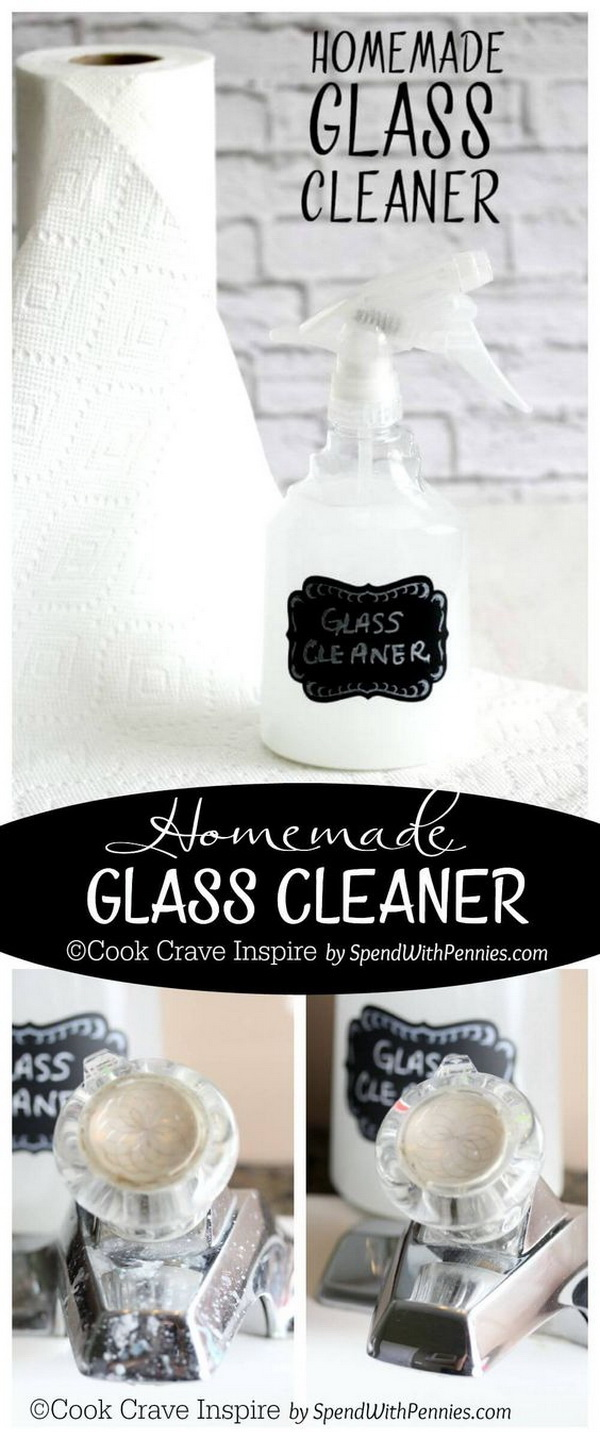 Homemade Glass Cleaner. Making your own household products and save a ton of money on the essentials. Get the recipes from for creativejuice.com