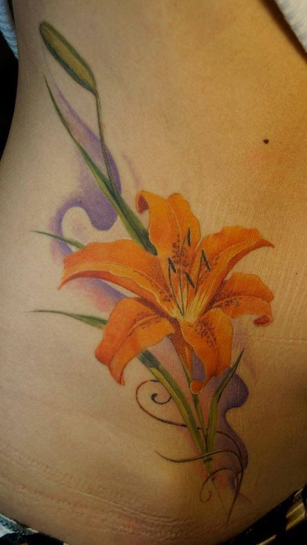 Orange Asiatic Lily Tattoo. via forcreativejuice.com