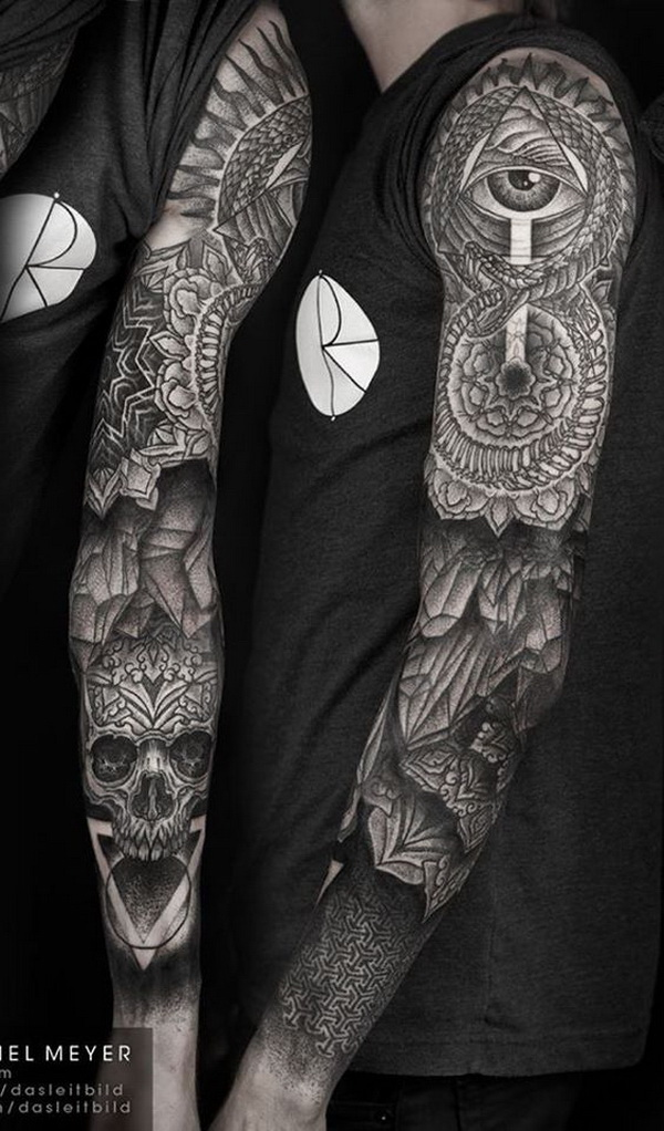 30 cool sleeve tattoo designs for creative juice. Black Bedroom Furniture Sets. Home Design Ideas