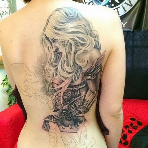 Attractive Fighting Warrior Tattoo.