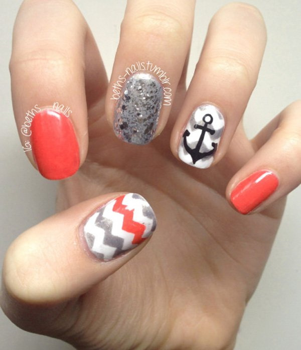 An Anchor on Chevron Pattern.
