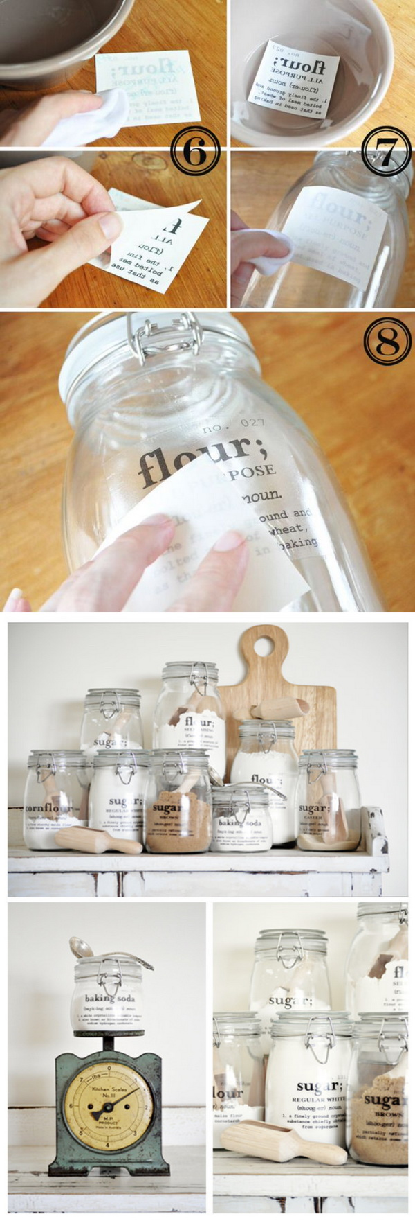 DIY Kitchen Containers with Labels. Print these pantry organization labels for free and add to your kitchen. Labels include recipe so everything can be stored in jars or air tight containers.