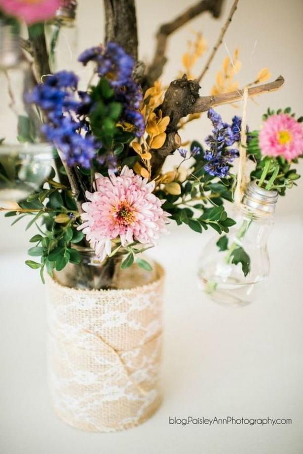 Mason Jar Bouquet Gift.