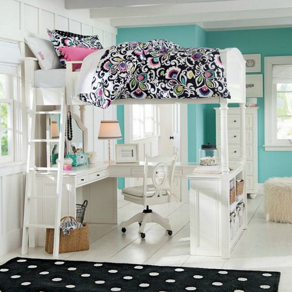 girls bedroom color. Modern loft bedroom design idea for teens  40 Beautiful Teenage Girls Bedroom Designs For Creative Juice