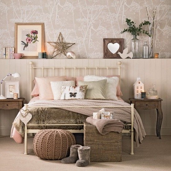 Cozy bedroom in caramel and vanilla  Add a touch of rustic warm with some  wooden. 40  Beautiful Teenage Girls  Bedroom Designs   For Creative Juice