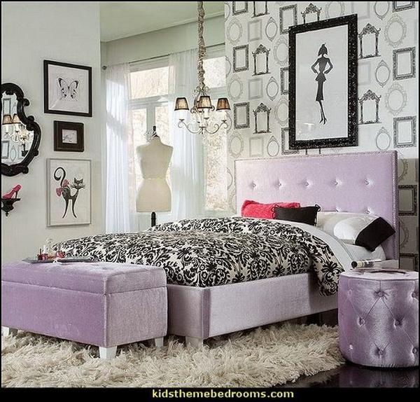 40 beautiful teenage girls\u0027 bedroom designs for creative juicepurple and black themed bedroom design for teenage girls fashionista decorating style