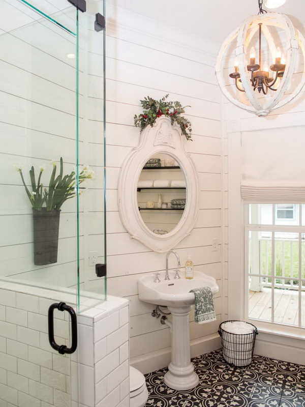 20 Amazing Farmhouse Bathrooms With Rustic Warm For Creative Juice
