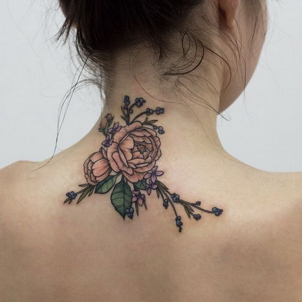 Design flower tattoo