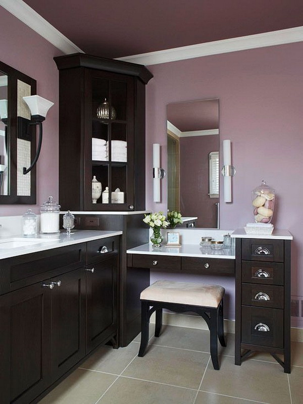35 awesome bathroom design ideas for creative juice for Light purple bathroom accessories