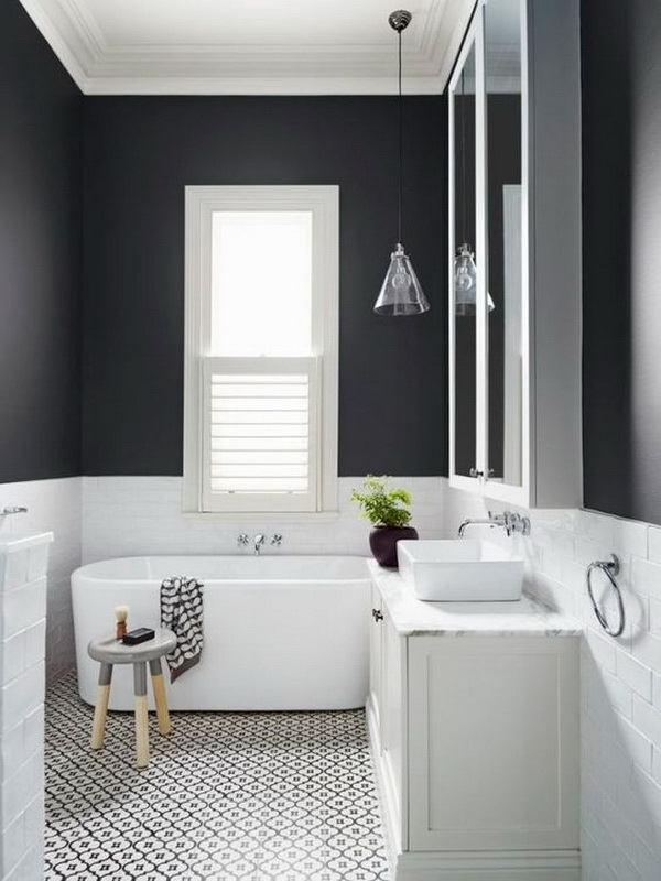 Black & White Minimal Bathroom.