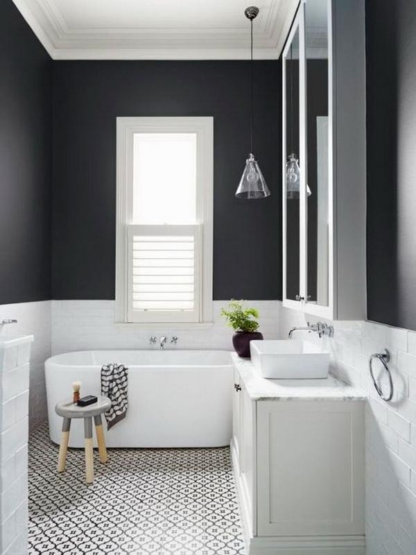 Black & White Minimal Bathroom.