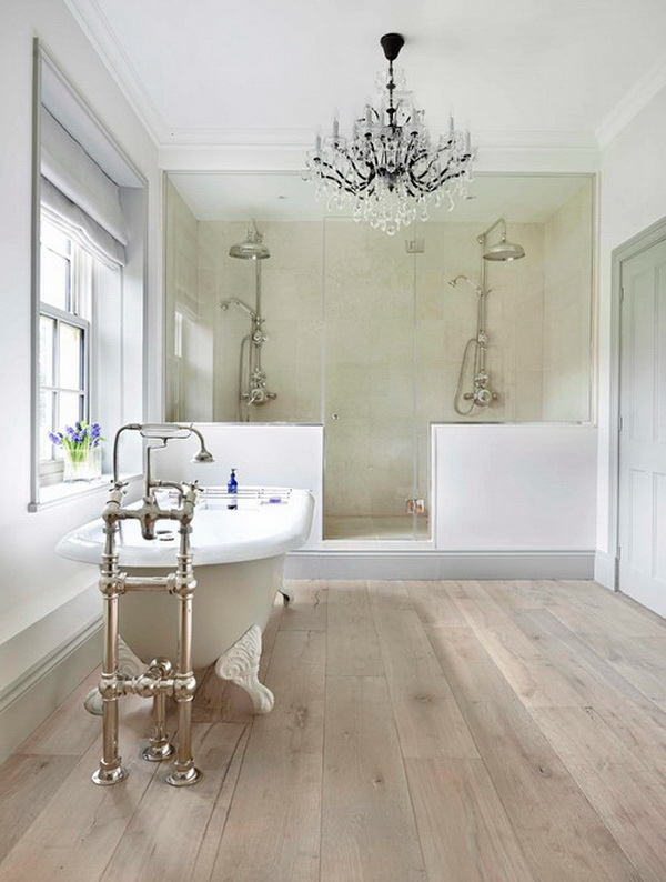 Bathroom design ideas. Traditional in style with two dedicated showering!