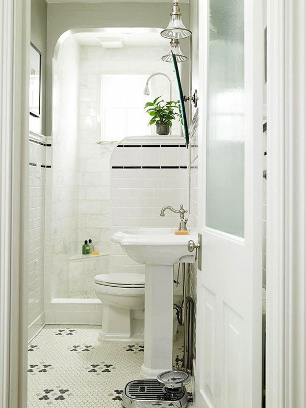 White Bathroom Interior Design.