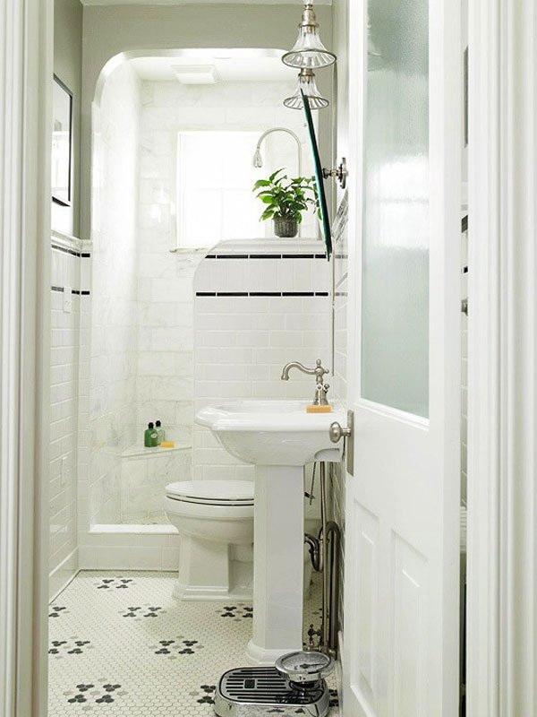 White Bathroom Interior Design.