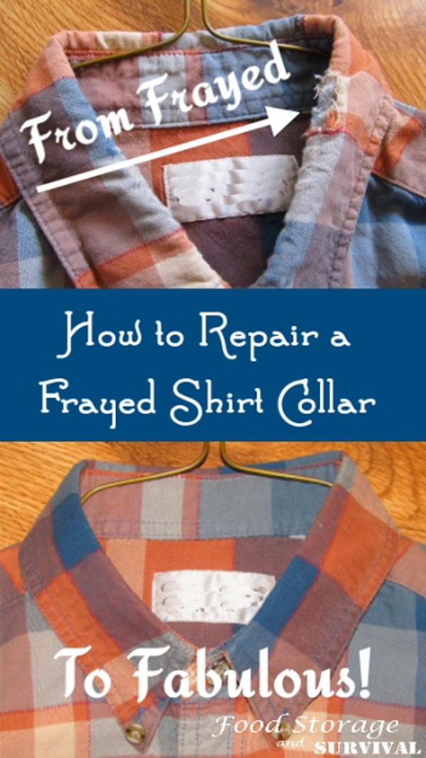 How To Repair A Frayed Shirt Collar: See how to repair a frayed shirt collar with the directions.