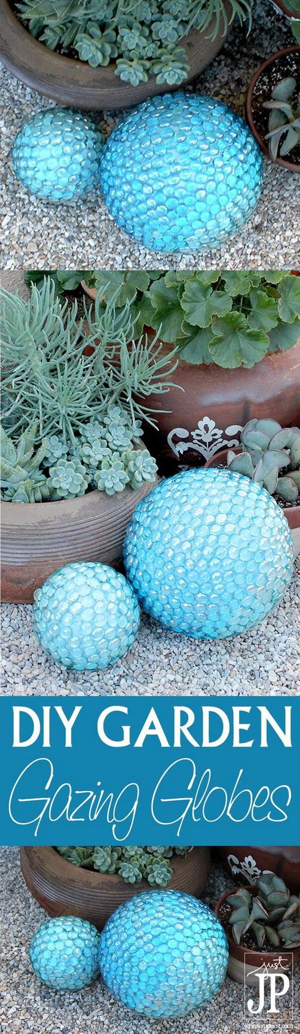 DIY Faux Gazing Ball For The Garden.