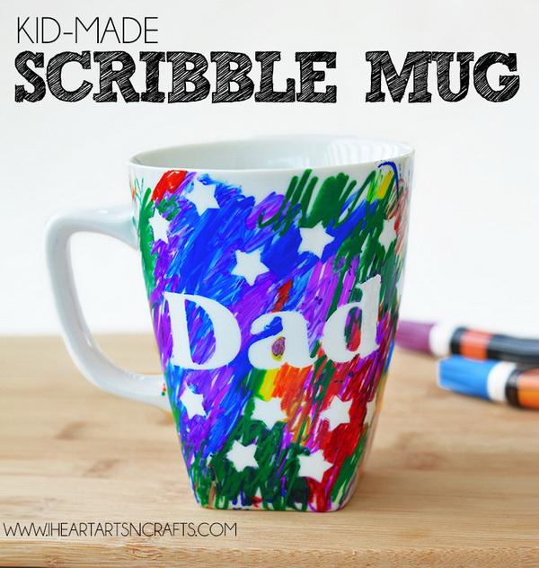 Father's Day Scribble Mug.