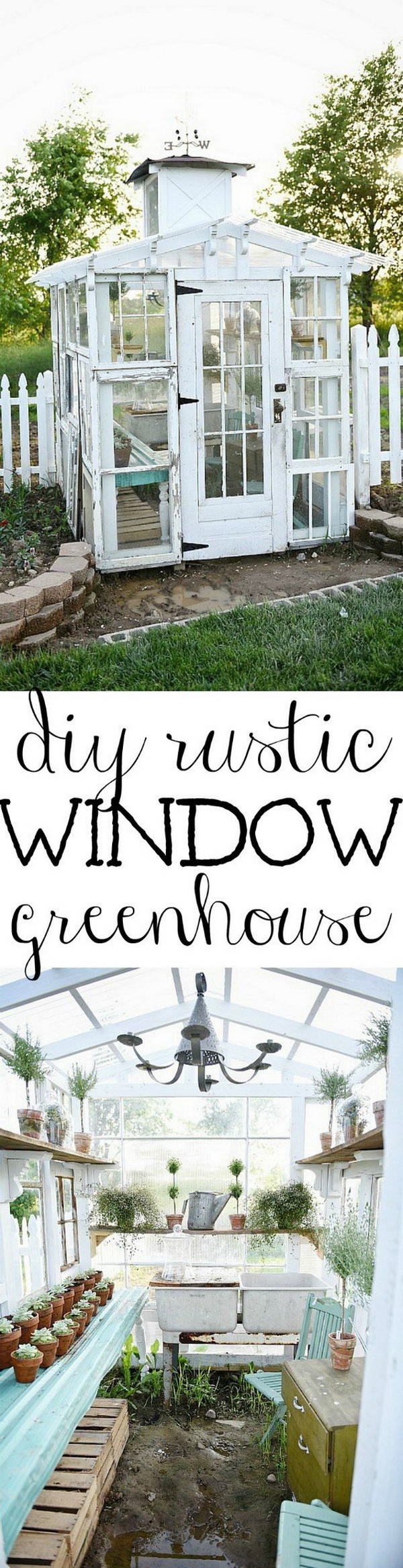 DIY Rustic Window Greenhouse.