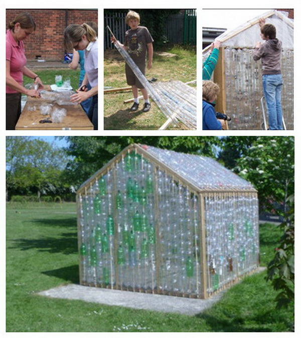 16 awesome diy greenhouse projects with tutorials for for Homemade greenhouse plastic