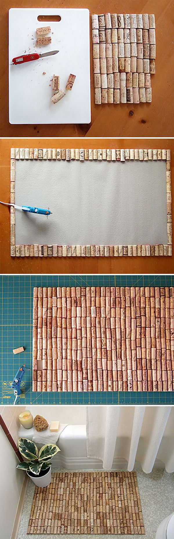 Wine Cork DIY Bathmat.