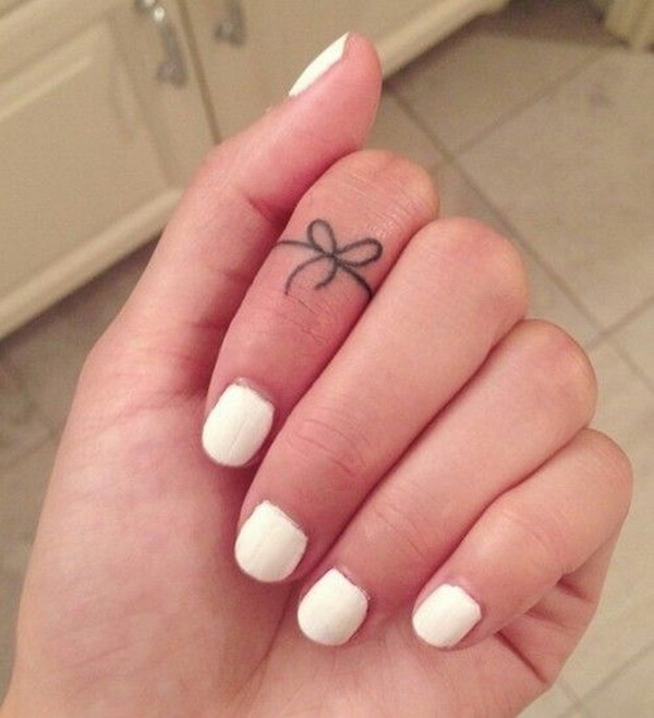 Forget Knot Tattoo on Finger.