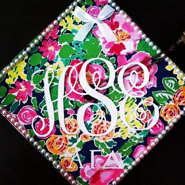 Cute Painting Graduation Cap with Colorful Patterns. 30+ Awesome Graduation Cap Decoration Ideas.